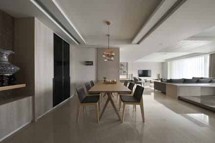 scandinavian Dining room by 夏川空間設計工作室