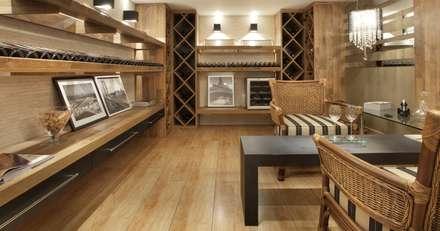 Ruang Penyimpanan Wine by JCWK arquitetura (jancowski arquitetura)