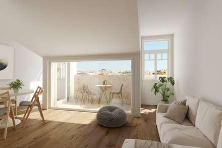 Atalaia: Salas de jantar escandinavas por VPVA - 3D/ArchViz  and Architecture