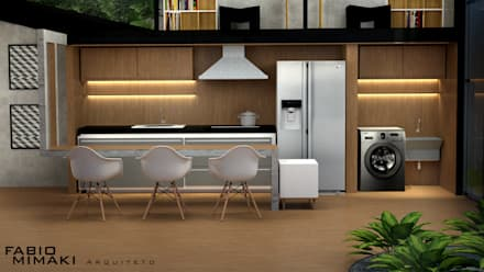 Kitchen units by Fabio Mimaki Arquitetura