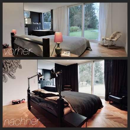 redesign Schlafzimmer - vorher / nachher: ausgefallene Schlafzimmer von HAUSSTATTER - REDESIGN & HOME STAGING