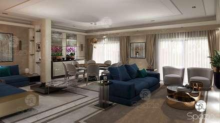 :  غرفة المعيشة تنفيذ Spazio Interior Decoration LLC