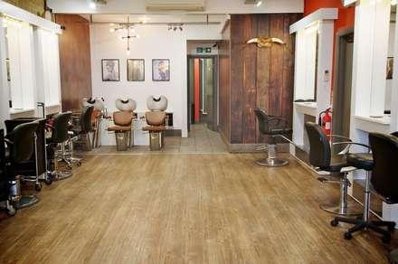Urban Edge Hair Salon:  Commercial Spaces by Tara Cremer Designs