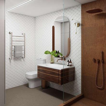 Южный бриз.: Ванные комнаты в . Автор – Екатерина Штракбейн