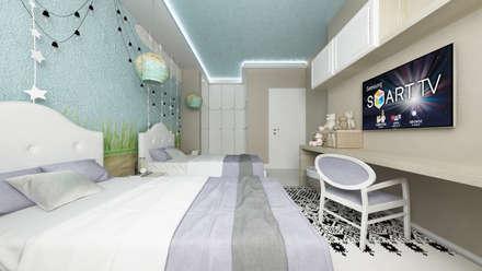 CASA FF: Stanza dei bambini in stile in stile Moderno di De Vivo Home Design