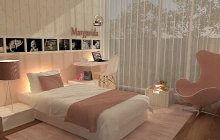Girls Bedroom by Casactiva Interiores