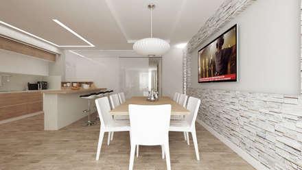 CASA CC: Cucina in stile in stile Moderno di De Vivo Home Design