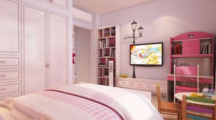 Mẫu Thiết Kế Nhà Phố 4 Tầng 4,3x20m Kết Hợp Ở Và Kinh Doanh:  Phòng ngủ by Công ty TNHH Xây Dựng TM – DV Song Phát