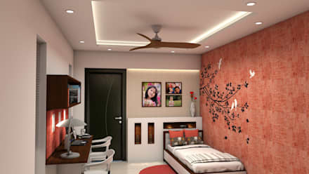Kinthali Manoj:  Girls Bedroom by ARK Architects & Interior Designers