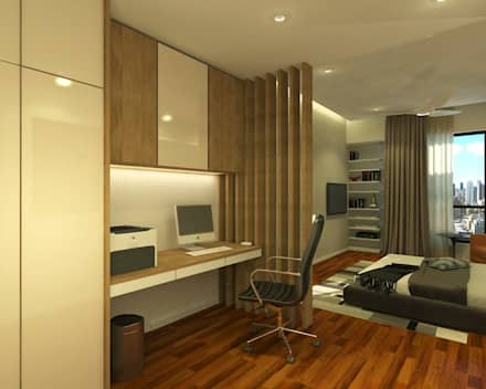 Stonor Luxury Condo: modern Bedroom by inDfinity Design (M) SDN BHD