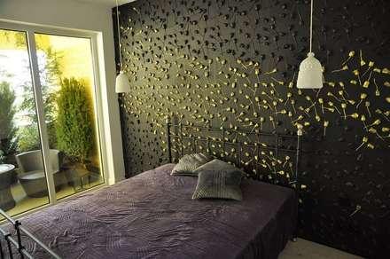Wandpaneele aus Gips ROSEN GARDEN: klassische Schlafzimmer von Loft Design System Deutschland