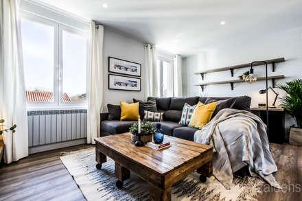 La casa de Miguel - Estilismo completo en Pamplona: Salones de estilo industrial de jaione elizalde estilismo inmobiliario - home staging