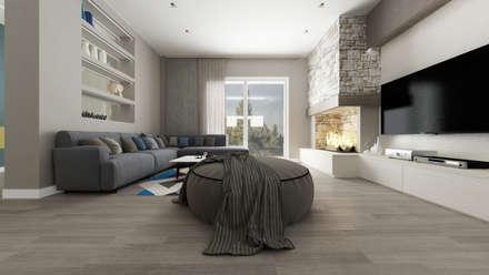 رہنے کا کمرہ  by De Vivo Home Design