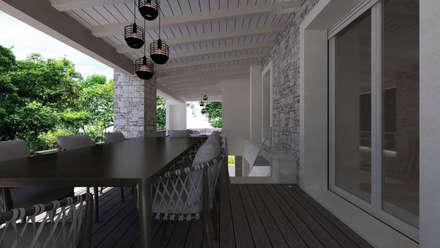 CASA AV: Terrazza in stile  di De Vivo Home Design