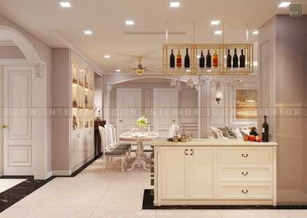Thiết kế nội thất phong cách TÂN CỔ ĐIỂN cùng căn hộ Vinhomes Central Park:  Tủ bếp by ICON INTERIOR