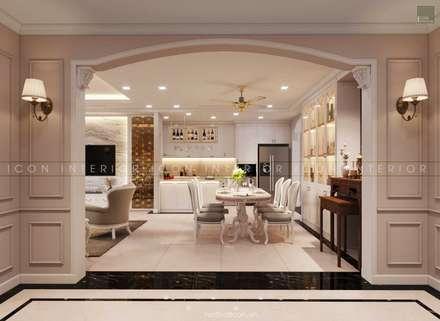Thiết kế nội thất phong cách TÂN CỔ ĐIỂN cùng căn hộ Vinhomes Central Park:  Phòng ăn by ICON INTERIOR