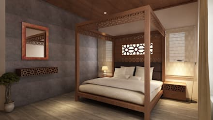 tropical Bedroom by S Squared Architects Pvt Ltd