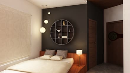 The Circular Courtyard House: tropical Bedroom by S Squared Architects Pvt Ltd