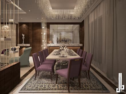 Dining room in private villa: modern Dining room by dal design office