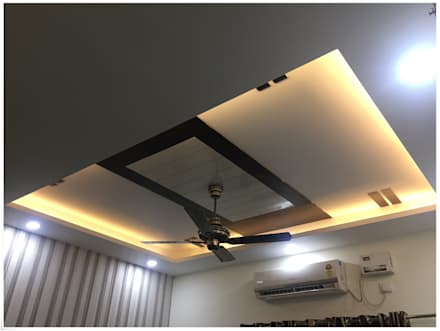 False Ceiling in the Commom Bedroom: modern Bedroom by U and I Designs