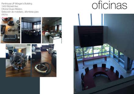 GRUPOMEXICO OFFICE: Estudios y oficinas de estilo moderno por MARIAMOURATOGLOU