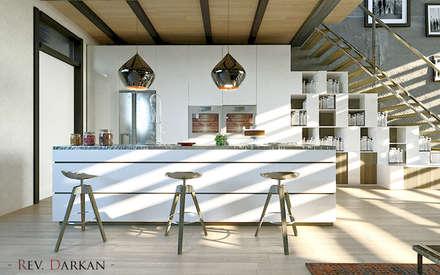 Loft a Milano: Cucina attrezzata in stile  di Atelier116