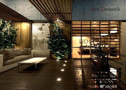 Loft a Milano: Terrazza in stile  di Atelier116