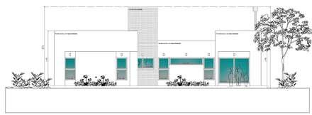 Vista Contrafrente: Casas de estilo moderno por I.S. ARQUITECTURA