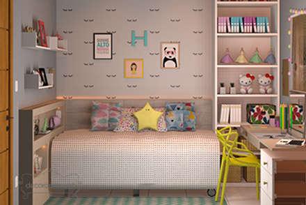Habitaciones juveniles de estilo  por Decoropravocê - Decoração ao seu alcance.