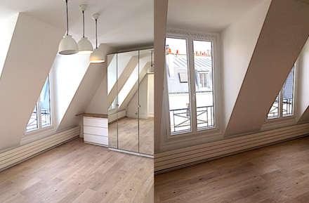 Appartement sous comble rue de la pompe Paris 16: Salon de style de style Minimaliste par 2002