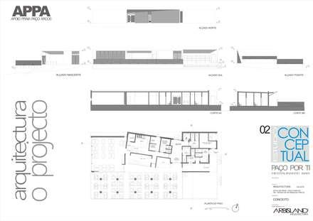 Apoio de Praia - Praia de Paço d'Arcos - Oeiras: Espaços de restauração  por Arbisland Arquitectura & Design