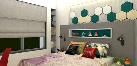 moderne Schlafzimmer von The D'zine Studio