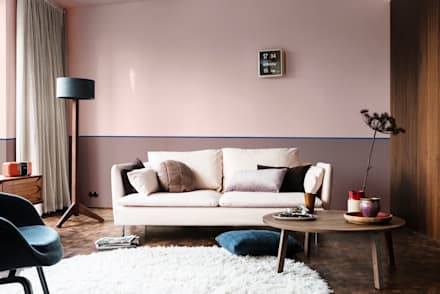 The Heart Wood Home: scandinavian Living room by Dulux UK