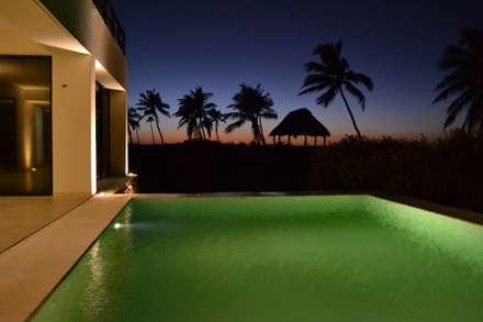 Hồ bơi trong vườn by Alberto Zavala Arquitectos