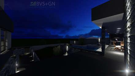 VIVIENDA VB: Piletas infinitas de estilo  por BVS+GN ARQUITECTURA