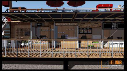 Container Restaurant:  Restoran by CV Leilinor Architect