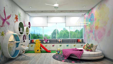 eclectic Nursery/kid's room by Designism
