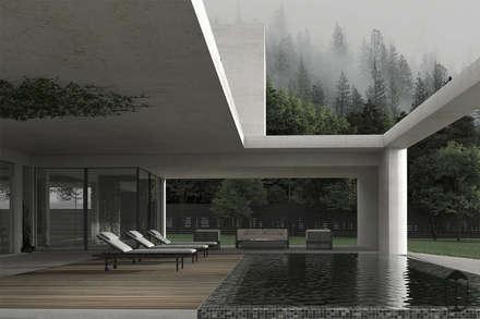 Gray & Green: Загородные дома в . Автор – U-Style design studio