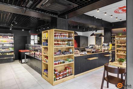 Дизайн мясного магазина в темных цветах: Коммерческие помещения в . Автор – Art-i-Chok