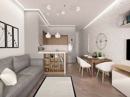 Квартира 76 кв.м в ЖК Фили Град: Гостиная в . Автор – owndesign