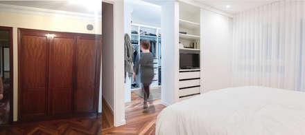 Antes_después de armario a vestidor: Vestidores de estilo minimalista de MAGA - Diseño de Interiores