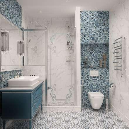 Неоклассика: Ванные комнаты в . Автор – owndesign