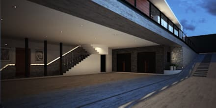 Garajes abiertos de estilo  por PRAGMA Arquitectura