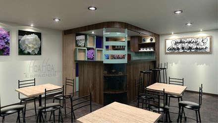 Barra de cafeteria: Comedores de estilo moderno por HoaHoa Espacios SAS