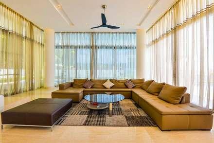 JALAN DAMAI JAYA 2: modern Living room by Arkitek Axis