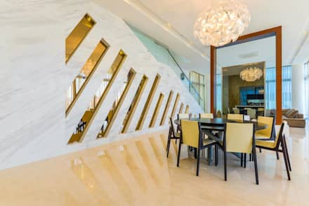 JALAN DAMAI JAYA 2: modern Dining room by Arkitek Axis