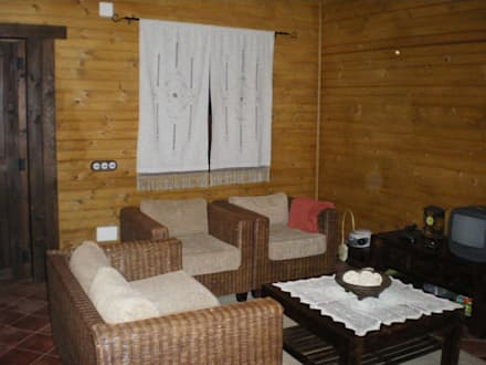 salón: Salones de estilo rústico de Dimumarco SLU