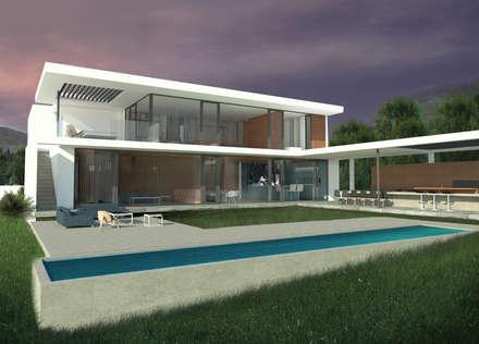 Casa Marbella: Piscinas de estilo  por Nicolas Loi + Arquitectos Asociados