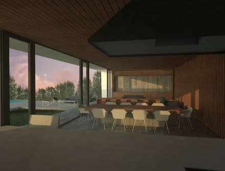 Casa Marbella: Comedores de estilo minimalista por Nicolas Loi + Arquitectos Asociados