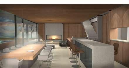 Casa Chicureo: Comedores de estilo mediterraneo por Nicolas Loi + Arquitectos Asociados